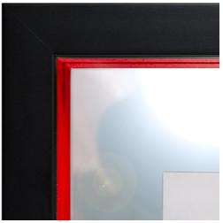 baguette noire hausse rouge