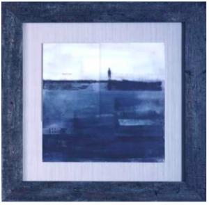 cadre baguette bleue