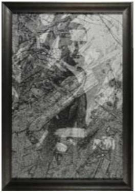 cadre baguette gris fonce