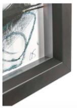 cadre encadrement noir mat