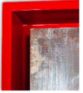 caisse americaine rouge laquee