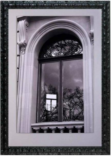 cadre photo noire moulure
