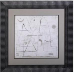 cadre baguette mouluree noir mat 1