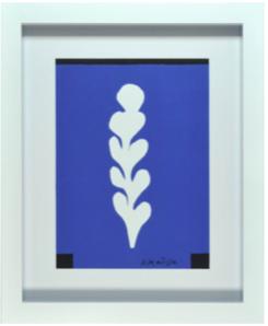cadre blanc sujet bleu