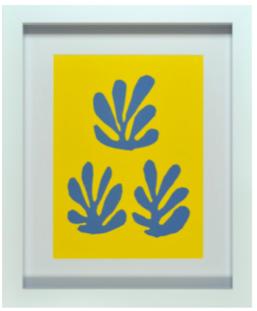 cadre blanche fond jaune