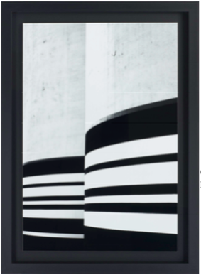 cadre noir blanc fond noir