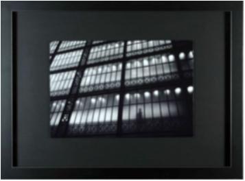 cadre paysage marge baguette noire