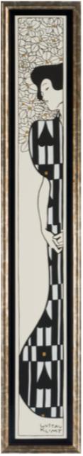 long cadre baguette doree