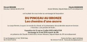 vernissage exposition pinceau au bronze
