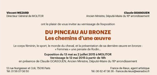 vernissage exposition pinceau au bronze