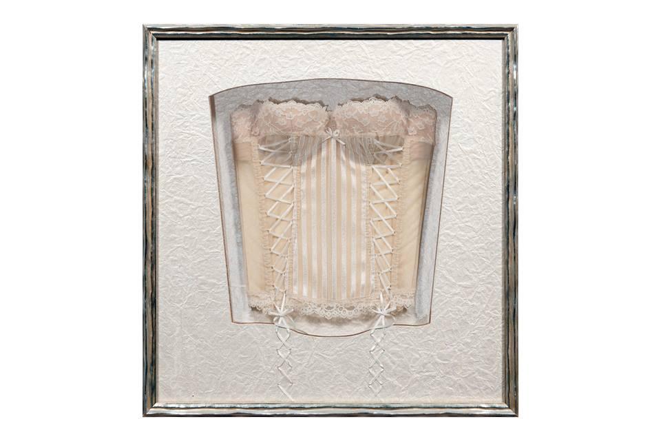 cadre boitage corset baguette argent