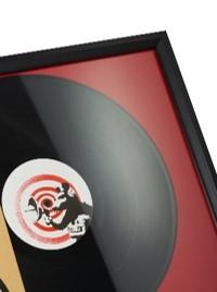 cadre encadrement vinyle rouge