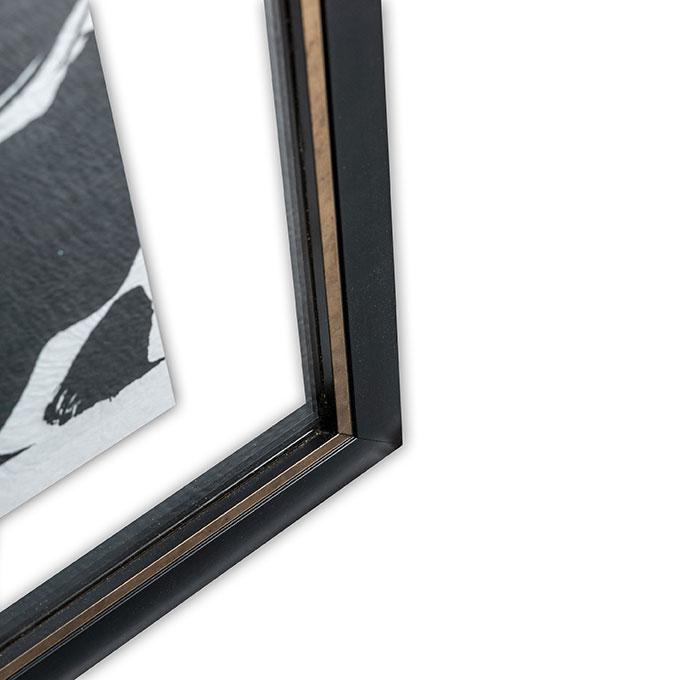 details baguette noire dore