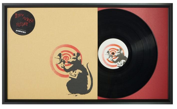 encadrement disque vinyle rouge