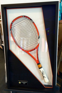 encadrement objet raquette tennis