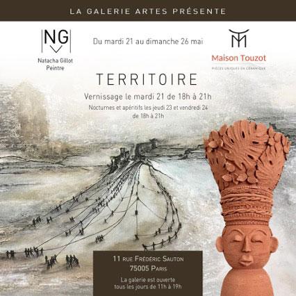 L'exposition Territoire et son vernissage à la Galerie Artes